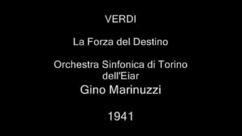 VERDI. La Forza del Destino. Gino Marinuzzi, 1941.