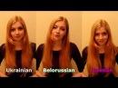3 slavic languages Ukrainian Russian and Belarusian
