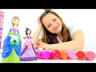 Играем с куклами. Школа искусств кукол Кати и Лены. Лучшая подружка Настя. Игры для детей.