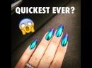 QUICKEST NAIL FOIL TUTORIAL EVER! | Oil Slick Metallic Gradient Foil Nail Art