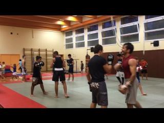 Wayclub : секция бокса Мехди Дакаева - чемпиона России и Мира по ММА, дипломированного и по боксу . в зале присутствует чемпион