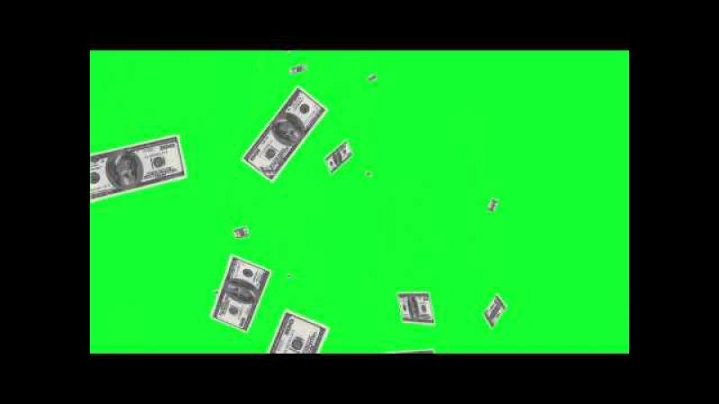 Деньги Часть 2 Хромакей Зеленый фон Футаж