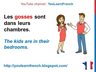 French Lesson 183 - THE KIDS ARE SICK Informal French dialogue conversation Slan...