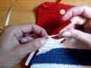 Часть 1. Сумочка из атласных лент крючком в морском стиле/ Handbag hook