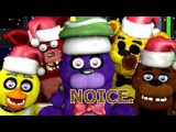 FNAF World Christmas Teaser! Animatronics Reaction | FNAF SFM