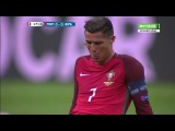 Португалия Франция обзор матча 2016 ФИНАЛ  Травма Роналду - Гол Эдера  Евро 2016