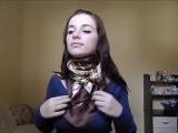 Как красиво завязать шарфы, платки, палантины
