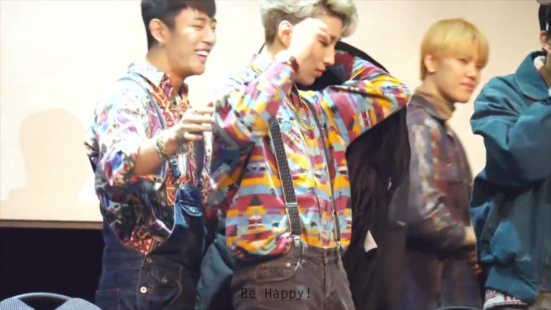 """[Fancam] [19.12.15] B.A.P """"Young, Wild Free"""" Fansign Event - Sangam (DaeUp moment at the end :D)"""
