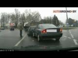 Видео ДТП в Гродно_ Вольво разогналась и впечатала Опель в грузовик
