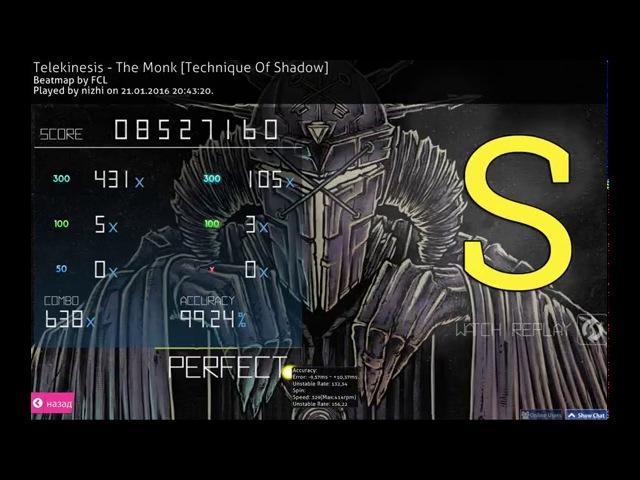 Osu! - Теlekinesis - the Monk [Technique Of Shadow] (nizhi)