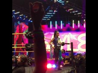 "Adriel Diaz on Instagram: ""Baymella entrance. Bayley and Carmella teaming up to face Nia Jax and Eva Marie. #WWENXT #WWE #WWEOrlando #NXTOrlando #CFEArena #Baymella…"""