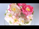 HOT CAKE TRENDS Buttercream peony and poppy flower wreath cake