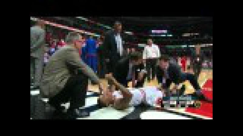 Derrick Rose Injury (Full highlight), Game 1 2012 NBA Playoffs 4,28,12-1.m4v