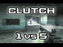 DiWilliam get clutch 1 vs 5 on office CSGO