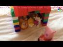 Теремок с героями из мультфильмов Свинка Пеппа, Пороро, лягушка квакушка, курочка ряба, корова