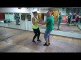 Bachata dominicana funny in Salsa club Kiev( Ksenia & Aleksandr)