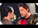 BEN AFFLECK versus HENRY CAVILL on the set of BATMAN V SUPERMAN