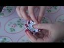 Как сделать многослойный цветок канзаши своими руками. Украшение на шапочку