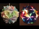 DIY lamp (flower ball) - learn how to make a paper lampshade/lantern by modular origami- EzyCraft