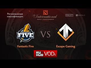 FF vs Escape Gaming.Квалификации TI6, Европа