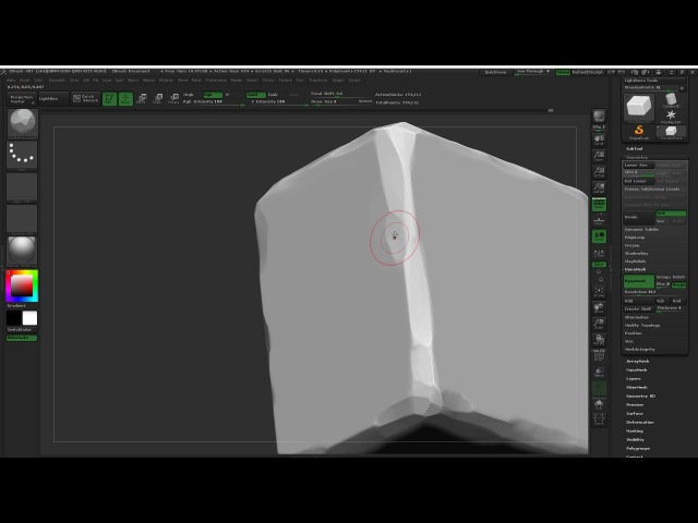 Stylised ZBrush Sculpt - 01 - Initial Sculpting Pass