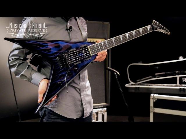 Jackson KV2 King V USA Electric Guitar Blue Ghost Flames