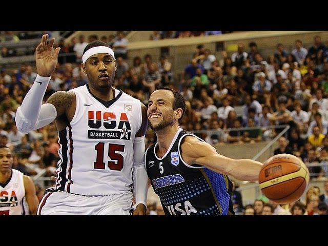USA vs Argentina 2012 Olympics Men's Basketball Exhibition FULL GAME HD 720p