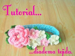 Crochet : Diadema tejida para bebe.