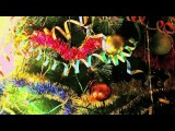 Футаж, заставка, видео-фон: ёлка, Новый Год, гирлянда, игрушки