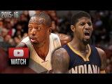Dwyane Wade vs Paul George EPIC DUEL Highlights (2016.01.04) Heat vs Pacers - DRAMA!!