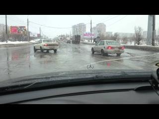 Предновогодние дни на дорогах Сибири в Омске (26.12.2015)
