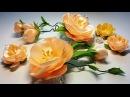 Ribbon flowers quick and easy Flores de las cintas rápida y fácil Цветы из лент быстро и легко МК