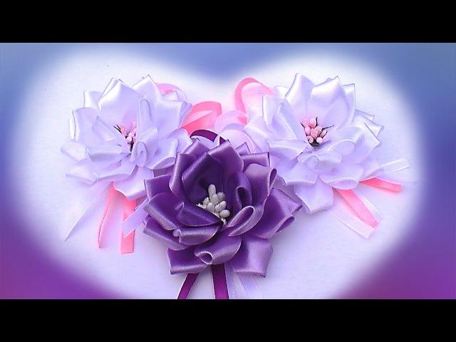 Пышный Бант Канзаши из Ленты 2,5 см / How to Make a Hair Bow out of Ribbon / Ribbon Bow Tutorial
