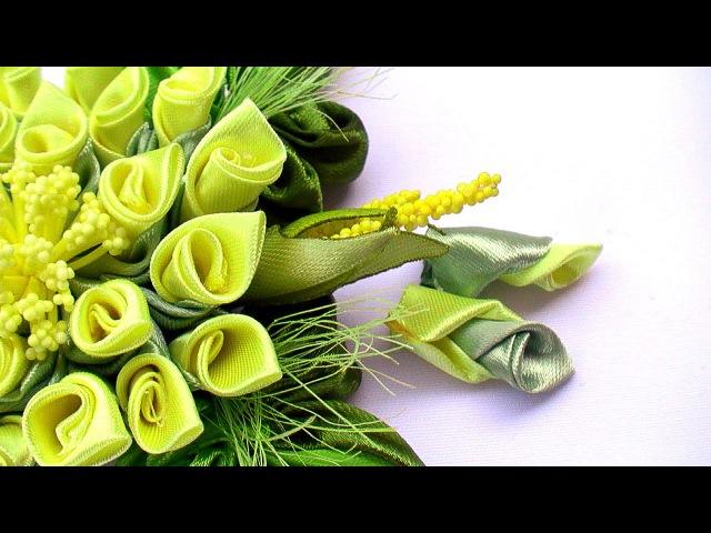 How to Make Flowers Petals / Kanzashi Flower Petals Tutorial / Лепестки Канзаши из Ленты 5 см