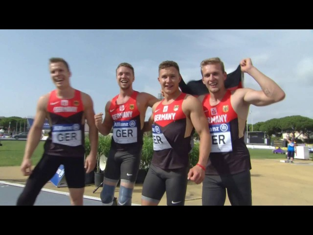Men's 4x100 m T42-47 | final | 2016 IPC Athletics European Championships Grosseto