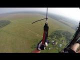 Первый испытательный полет на Жениной малинке и первый же обрыв троса.