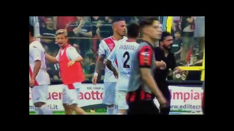 Foggia-Pisa Gattuso bottiglia (1-1) Pisa in Serie B