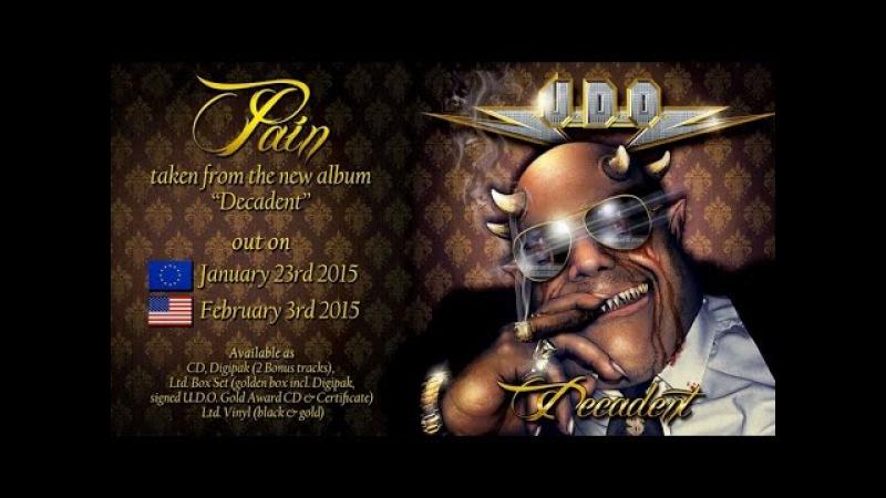 U.D.O. - Pain (2015) official AFM Records