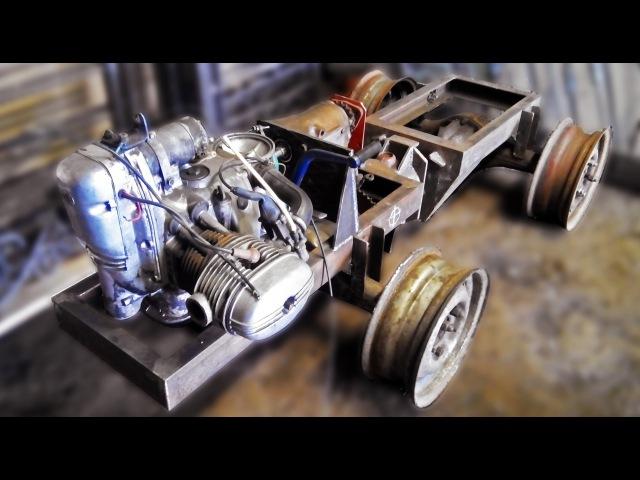 Установка двигателя. Сборка минитрактора (5 серия)