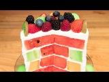Triple Melon Cake (Watermelon Cake, Honeydew Cake, Cantaloupe Cake) - No Bake