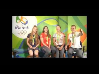 Девушки из бронзовой байдарки-четверки верят в сборную Беларуси по хоккею!