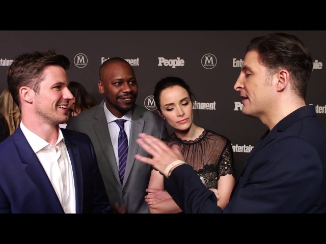 Matt Lanter, Malcom Barrett Abigail Spencer of Timeless at the EW and People Upfront
