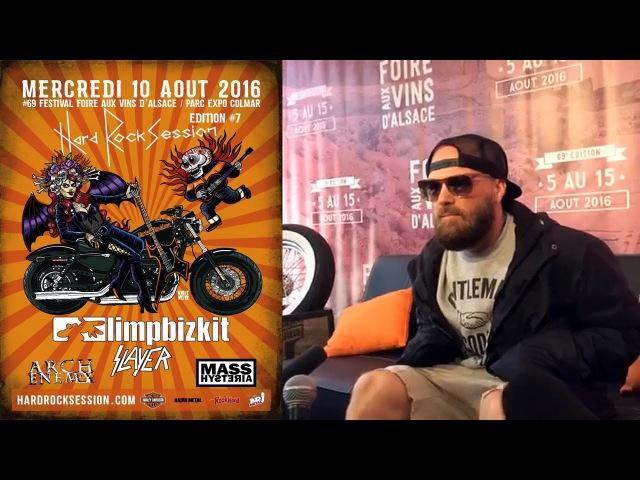 Limp Bizkit | Fred Durst interview Foire aux Vins d'Alsace | Aug 10, 2016