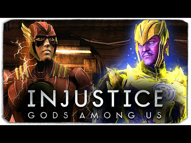 INJUSTICE GODS AMONG US Флеш VS Синестро