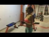 Тренировка спины, плеч, рук. Фитнес-клуб