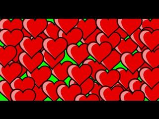 Футаж - Сердечки (Green Screen)