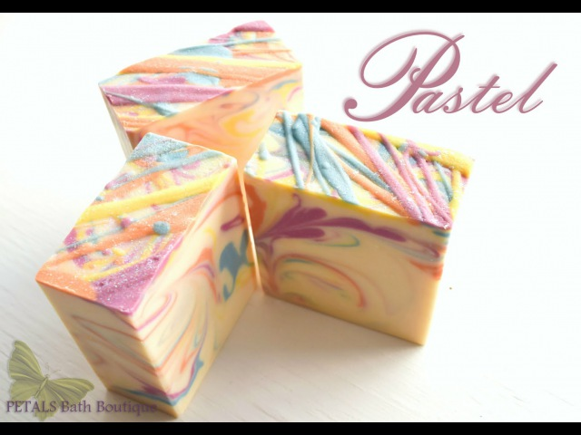 Making Cutting PASTEL Handmade Soap ~ Petals Bath Boutique
