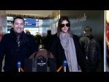 EXCLUSIVE:  Model Alessandra Ambrosio at Paris airport