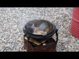 Бараньи ребра с луком для перекуса перед пловом в казане Часть 1
