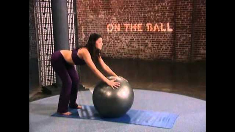 On The Ball Yoga Workout For Beginners - Sara Ivanhoe / На мяче: Пилатес Йога